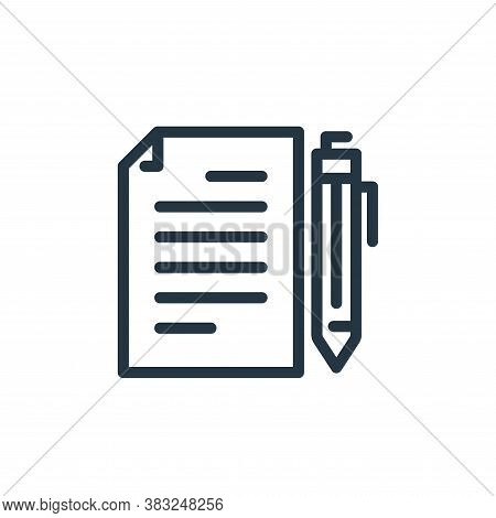 document icon isolated on white background from business collection. document icon trendy and modern