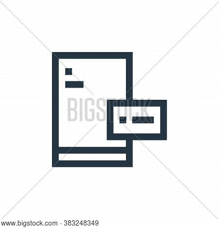paper icon isolated on white background from graphic design collection. paper icon trendy and modern