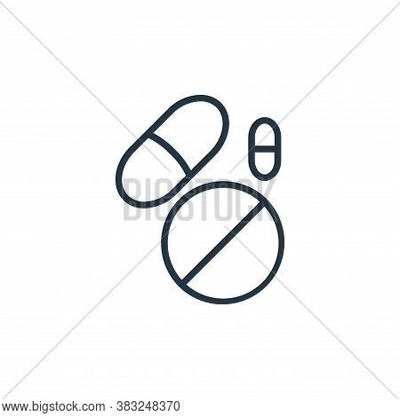 drugs icon isolated on white background from health collection. drugs icon trendy and modern drugs s