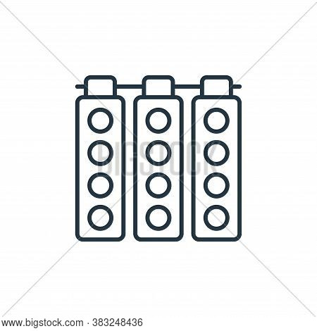 spot lights icon isolated on white background from racing collection. spot lights icon trendy and mo