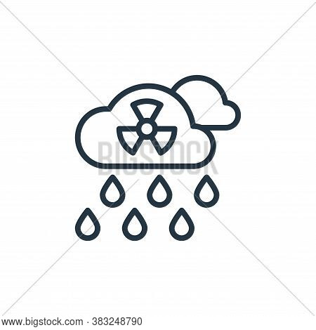 acid rain icon isolated on white background from ecology collection. acid rain icon trendy and moder