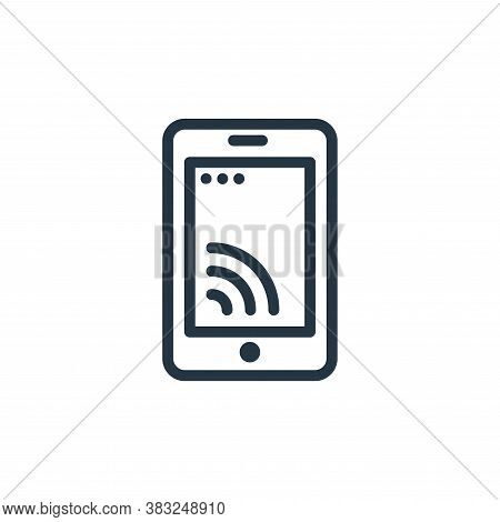 smartphone icon isolated on white background from spring collection. smartphone icon trendy and mode