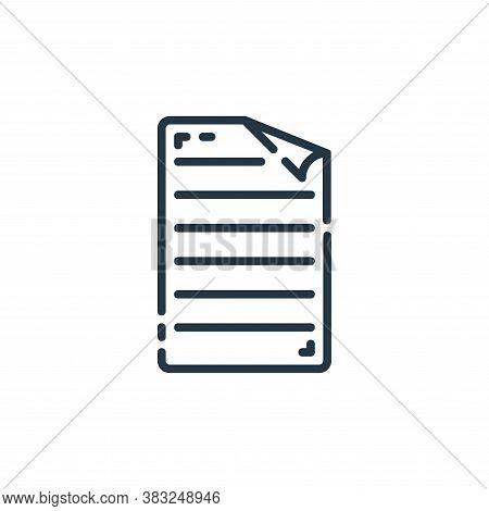 documents icon isolated on white background from documents collection. documents icon trendy and mod