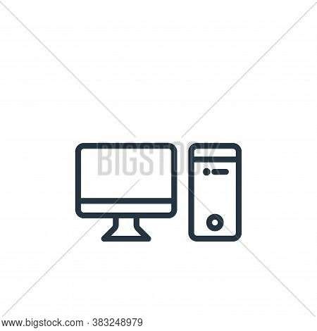 computer icon isolated on white background from electronic devices outline collection. computer icon