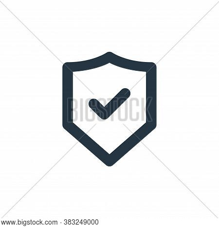 shield icon isolated on white background from px network and communication collection. shield icon t
