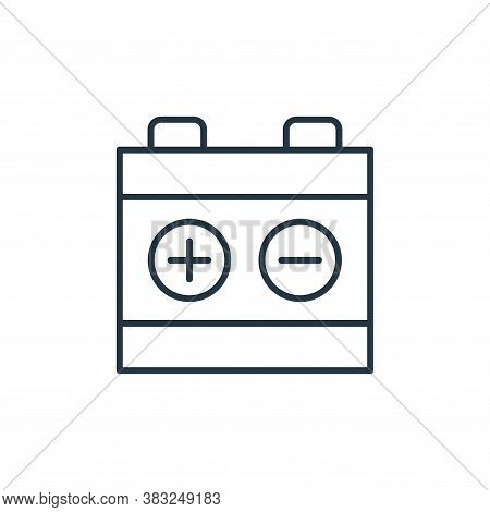battery icon isolated on white background from racing collection. battery icon trendy and modern bat