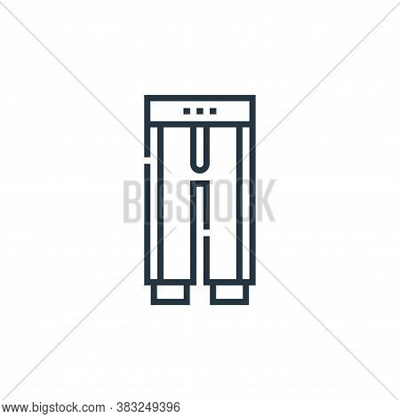 pants icon isolated on white background from baseball collection. pants icon trendy and modern pants