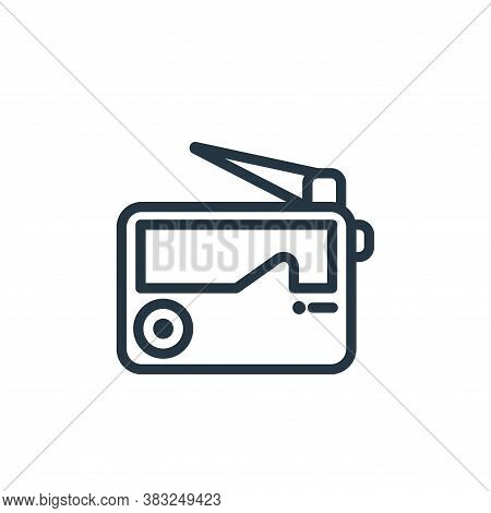 radio icon isolated on white background from electronic devices outline collection. radio icon trend