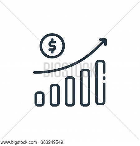 growth icon isolated on white background from finance collection. growth icon trendy and modern grow