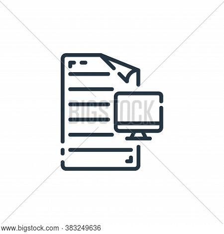 desktop icon isolated on white background from documents collection. desktop icon trendy and modern