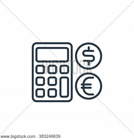 calculating icon isolated on white background from money collection. calculating icon trendy and mod