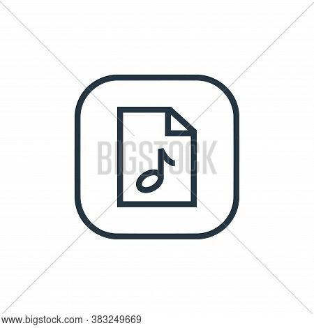 music file icon isolated on white background from files and folders collection. music file icon tren