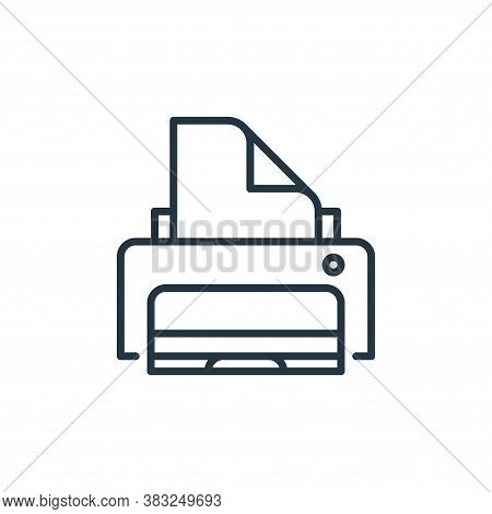 printer icon isolated on white background from education collection. printer icon trendy and modern