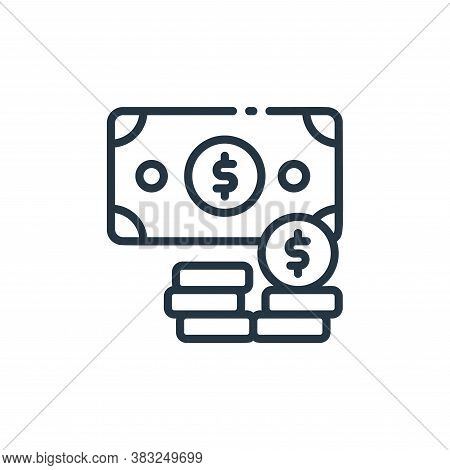 cash icon isolated on white background from finance collection. cash icon trendy and modern cash sym