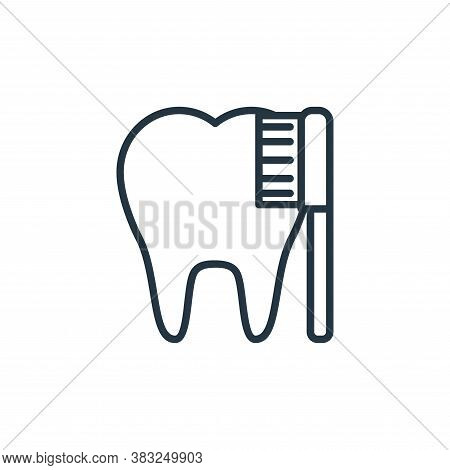 tooth cleaning icon isolated on white background from health collection. tooth cleaning icon trendy