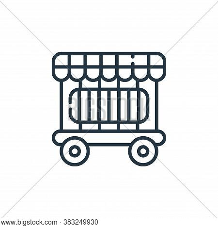 cage icon isolated on white background from carnival collection. cage icon trendy and modern cage sy