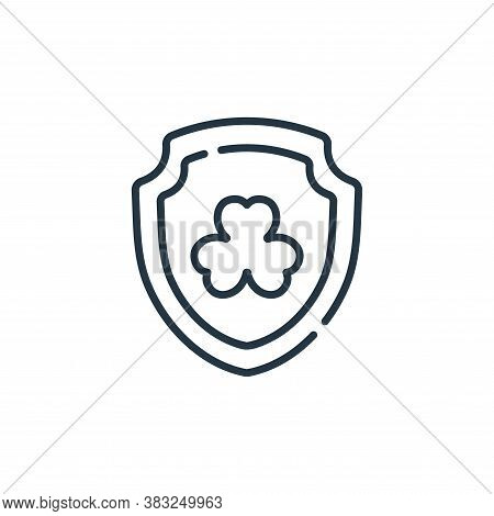 shield icon isolated on white background from ireland collection. shield icon trendy and modern shie