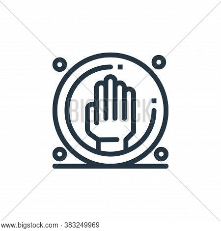 stop violence icon isolated on white background from women day collection. stop violence icon trendy