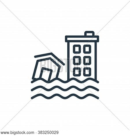flood icon isolated on white background from ecology collection. flood icon trendy and modern flood