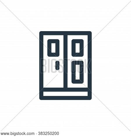 cupboard icon isolated on white background from smart home collection. cupboard icon trendy and mode
