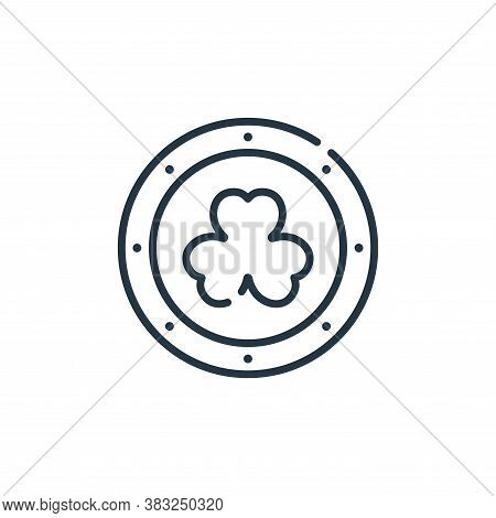 coin icon isolated on white background from ireland collection. coin icon trendy and modern coin sym