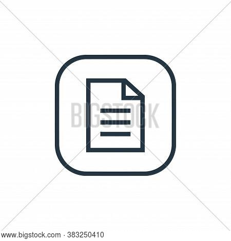 document icon isolated on white background from files and folders collection. document icon trendy a