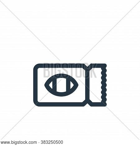 ticket icon isolated on white background from american football collection. ticket icon trendy and m