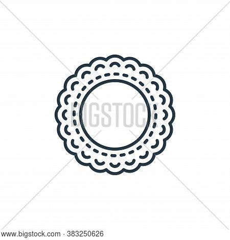 embroidery icon isolated on white background from antique collection. embroidery icon trendy and mod