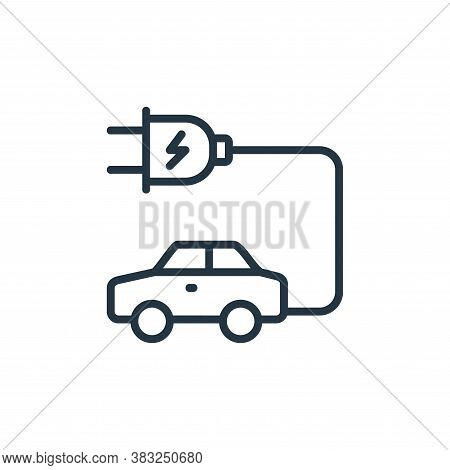 electric car icon isolated on white background from ecology collection. electric car icon trendy and