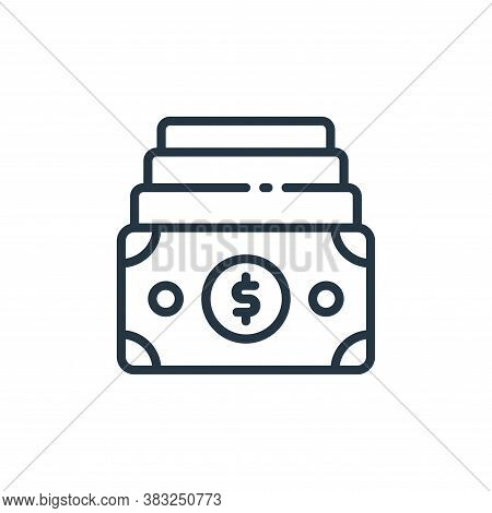 Funds icon isolated on white background from finance collection. Funds icon trendy and modern Funds