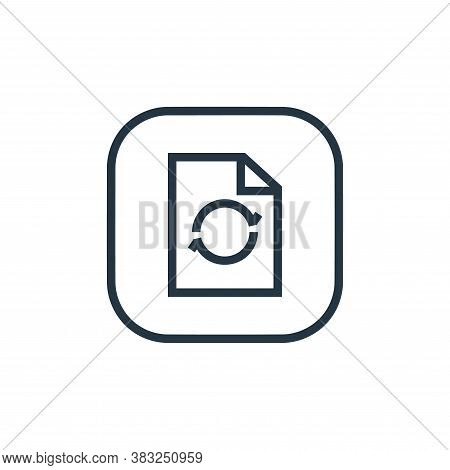 synchronize icon isolated on white background from files and folders collection. synchronize icon tr