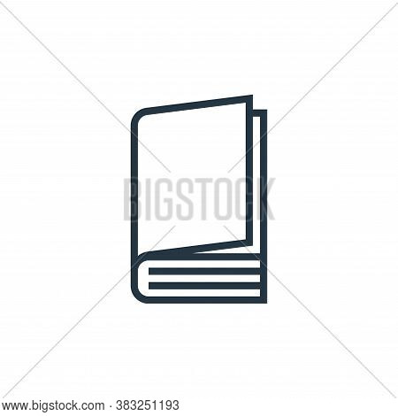 closed book icon isolated on white background from book and document collection. closed book icon tr