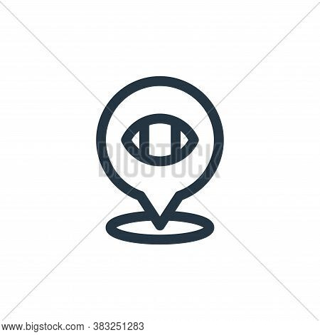 location icon isolated on white background from american football collection. location icon trendy a