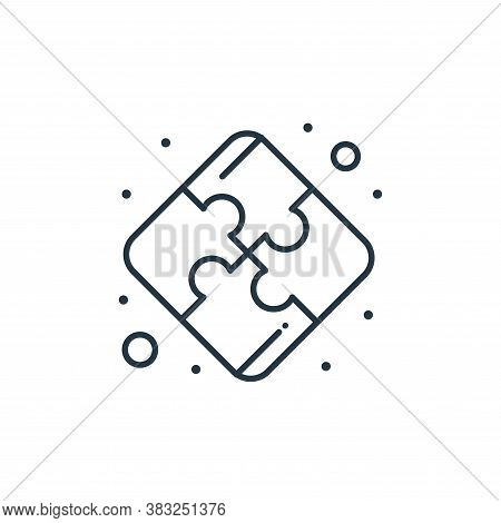 puzzle pieces icon isolated on white background from strategy collection. puzzle pieces icon trendy
