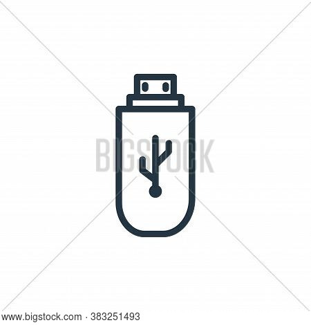 flash disk icon isolated on white background from electronic devices outline collection. flash disk