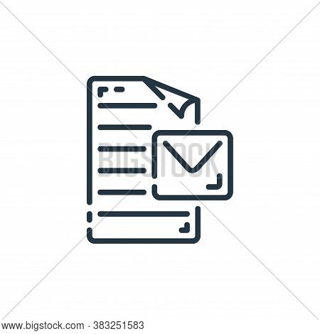 message icon isolated on white background from documents collection. message icon trendy and modern