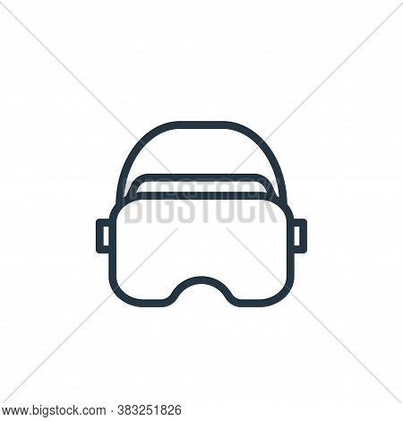 virtual reality icon isolated on white background from electronic devices outline collection. virtua