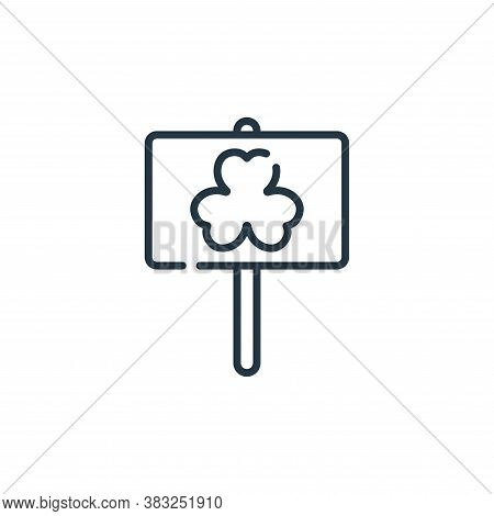 saint patricks day icon isolated on white background from ireland collection. saint patricks day ico