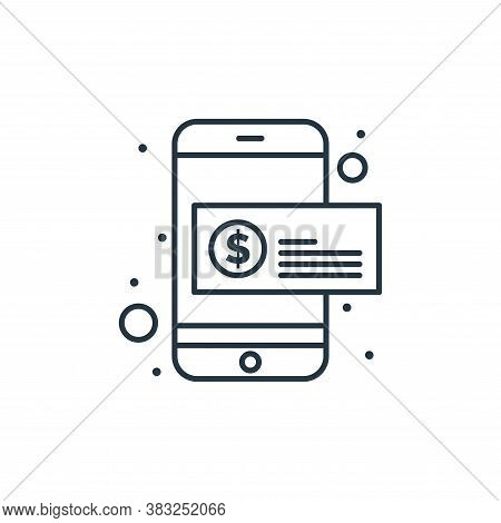 online payment icon isolated on white background from strategy collection. online payment icon trend