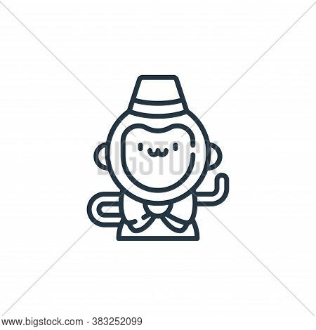 monkey icon isolated on white background from carnival collection. monkey icon trendy and modern mon