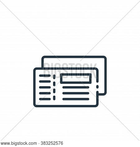 cheque icon isolated on white background from finance collection. cheque icon trendy and modern cheq