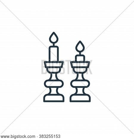 candlestick holder icon isolated on white background from antique collection. candlestick holder ico