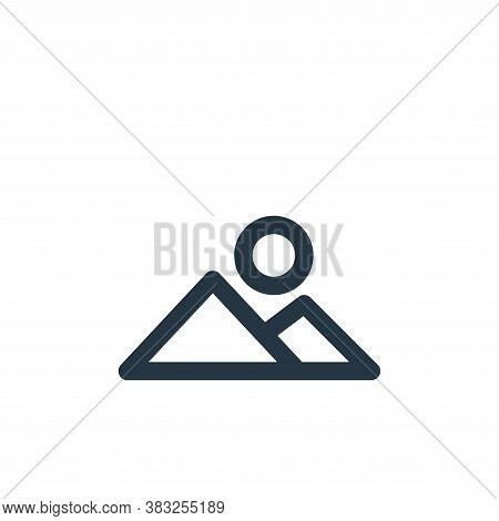 mountains icon isolated on white background from holiday collection. mountains icon trendy and moder