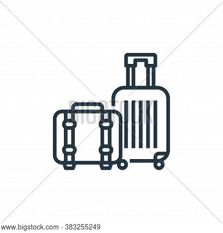 luggage icon isolated on white background from hotel essentials collection. luggage icon trendy and