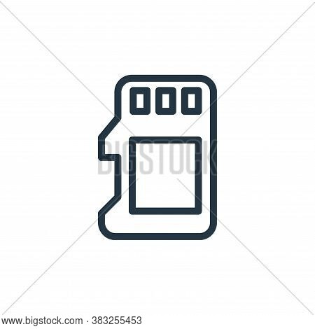sd card icon isolated on white background from electronic devices outline collection. sd card icon t