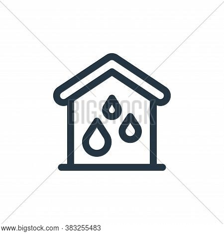 water system icon isolated on white background from smart home collection. water system icon trendy