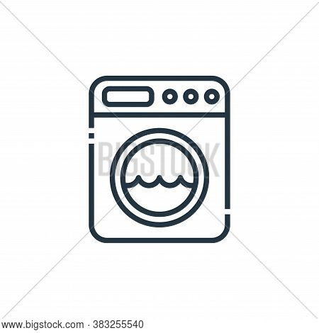 washing machine icon isolated on white background from hotel essentials collection. washing machine
