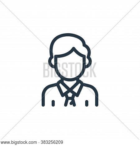 businessman icon isolated on white background from business collection. businessman icon trendy and