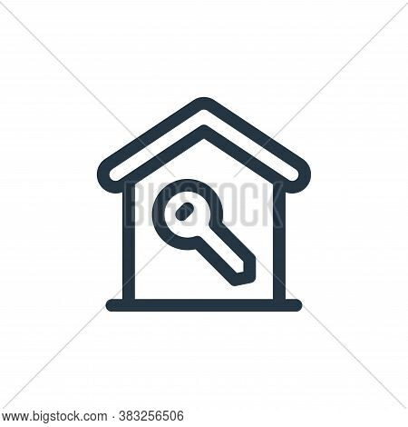 key icon isolated on white background from smart home collection. key icon trendy and modern key sym