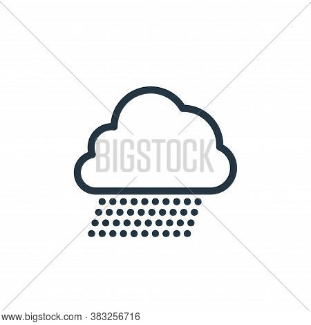rain icon isolated on white background from spring collection. rain icon trendy and modern rain symb